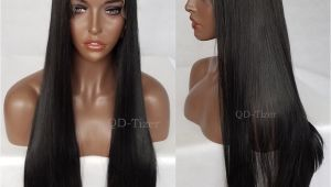 Black Hairstyles Lace Wigs Qd Tizer Long Straight Black Hair Synthetic Lace Front Wigs Silky