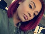 Black Hairstyles Red Bob Short Bright Ombre Red Bob Haircuts with Side Bangs for Black Women