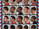 Black Men Haircut Styles Chart the Barber Hairstyle Guide Poster for Black Men
