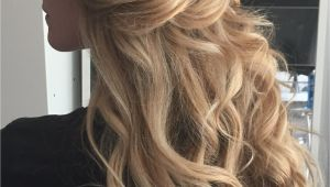 Blonde Hair Up Hairstyles Boho Wedding Hair Blonde Long Loose Beach Waves Half Up Highlights