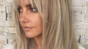 Blonde Hairstyles 2019 with Fringe 60 Fun and Flattering Medium Hairstyles for Women In 2019