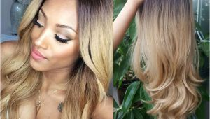 Blonde Hairstyles Black Girl Black to Blonde Ombre Synthetic Wigs for Black Women Ombre Body Wave