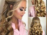 Blonde Hairstyles for Prom Beautiful Blonde Halfup Pageanthair Beautifulmakeup Promhair