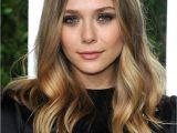 Blonde Hairstyles Middle Parting Youthful Long Mid Part Deep Wave Lace Front Human Hair Wig 16 Inches