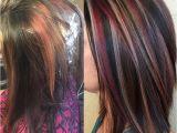 Blonde Hairstyles with Purple Highlights Cute Blonde Black Underneath Hairstyles