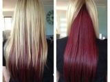 Blonde Hairstyles with Red Underneath Blonde and Red Hair Blonde Highlights and Red Hidden Underneath