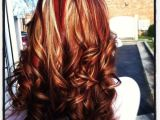 Blonde Hairstyles with Red Underneath Colors Lots Of Red with Blonde Underneath and Very Dark Brown or