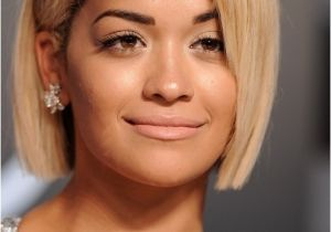 Bob Haircut Face Shape Rita ora Short Bob Haircuts for Round Face Shapes