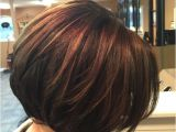 Bob Haircut with Peekaboo Highlights Short Hair Highlights with Caramel Color