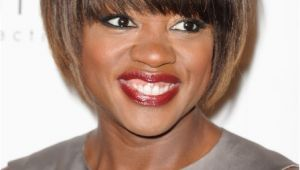 Bob Haircuts with Bangs African American African American Short Sleek Bob Haircut with Bangs