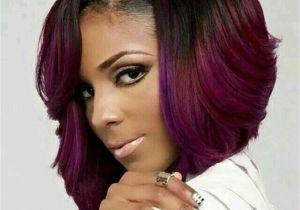 Bob Hairstyles Purple Black Girl Short Hairstyles Elegant asymmetrical Bob Black