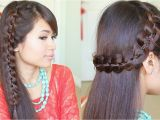 Braid Hairstyles for Long Hair Youtube Unique 4 Strand Lace Braid Hairstyle for Long Hair