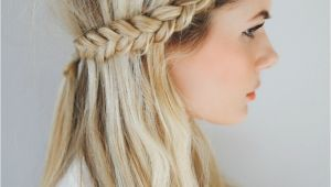 Braid In the Front Hairstyles Front Row Braid Tutorial Barefoot Blonde Hair