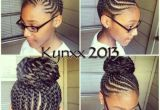 Braided Bun Hairstyles for Black Women Little Girl Natural Hair Braided Bun Cornrows