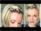 Braided Hairstyles for Short Hair Youtube How to Braid Your Bangs with Short Hair