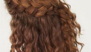 Braided Hairstyles for Wavy Hair Curly Hair Tutorial the Half Up Braid Hairstyle Hair