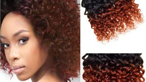 Brazilian Curly Weave Hairstyles Brazilian Virgin Hair Ombre Kinky Curly Weave Short Bob Hair Weave