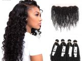 Brazilian Curly Weave Hairstyles Hc Brazilian Curly Virgin Hair with Lace Frontal Brazilian Kinky