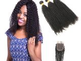 Brazilian Curly Weave Hairstyles Kinky Curly Weave Human Hair Bundles with Closure Brazilian Hair