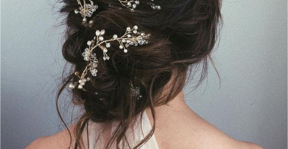 Bridal Hairstyles Buns Messy Bun Wedding Updos Pair fort and Style