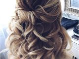 Bridesmaid Hairstyles Down Pinterest Half Up Half Down Twisted Wedding Hairstyles Wedding