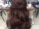 Bridesmaid Hairstyles Down Pinterest Wedding Hair Half Up Half Down Hair Pinterest
