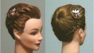 Buns Hairstyle Youtube ▷ Прическа Корзинка ПРетение кос Never Ending French Braid Bun