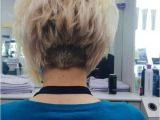 Buzzed Back Bob Haircut Buzzed Number 5 In Back Wedge Line then Layered Into An A
