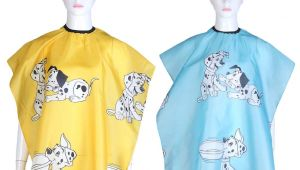 Cartoon Haircut Coupons Cartoon Dog Printed Kid Hairdressing Wrap Cape Waterproof Hair Salon