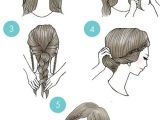 Cartoon Hairstyles Cute Simple Step by Step Illustrations Show Fun Ways to Style Your Hair