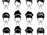 Cartoon Hairstyles Vector Hairstyle Vector & Illustrations – Vector Graphics – Rfclipart