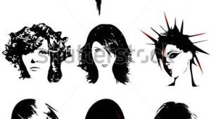 Cartoon Hairstyles Vector Punk Hair Free Vector Free Vector for Free About 1 Free