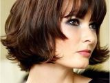 Chin Length Hairstyles with Volume Cute Chin Length Hairstyles for Short Hair Bob with Blunt Bangs