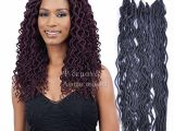 Crochet Hairstyles Cost 2019 24 Roots Synthetic Wavy Faux Locs Curly Crochet Hair Faux Lock