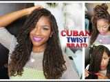 Crochet Hairstyles with Cuban Twist Hair Tutorial & Styling W Freetress Equal Cuban Twist Hair