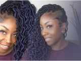 Crochet Hairstyles Youtube How to Crochet Ombre Blue Wavy Faux Locs Tapered Sides