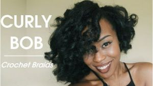 Crochet Hairstyles Youtube Styling Crochet Braids Curly Voluminous Bob