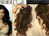 Curls Hairstyles for Medium Length Hair without Heat No Heat Curl Hair Tutorial Video