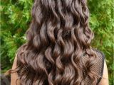 Curly Hairstyles Back View Long Glossy Curly Hair Back View — Zdjęcie Stockowe © Alter