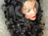 Curly Hairstyles for events Medium Free Part Fluffy Curly Human Hair Full Lace Wig In 2018