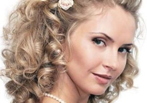 Curly Hairstyles for Medium Length Hair for Weddings Wedding Hairstyles Curly Hair Medium