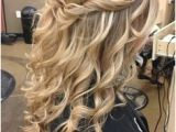 Curly Hairstyles for Prom Half Up Half Down Twist 15 Best Curly Half Up Half Down Images