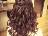 Curly Hairstyles Graduation Waterfall Braid Prom Hair Hair You Doin Pinterest