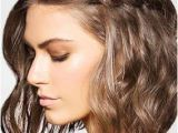 Curly Hairstyles Pulled Back Pull Back One Side with A Horizontal French Braid to Showcase Your