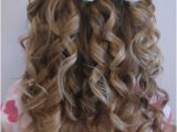 Curly Hairstyles Put Up Cute Little Girl Curly Back View Hairstyles Prom Hairstyles