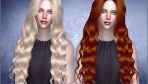 Curly Hairstyles Sims 4 Long Wavy Hair for La S Found In Tsr Category Sims 4 Female