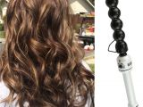 Curly Hairstyles Using A Wand Base Color Highlights and Curls with the Hot tools Bubble Curling