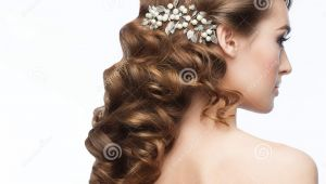 Curly Hairstyles with Hair Clips Curly Hairstyle Stock Photo Image Of Female Coiffure