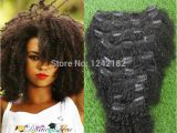 Curly Hairstyles with Hair Clips Hot Sale Afro Kinky Curly Hair Clip In Human Hair Extension