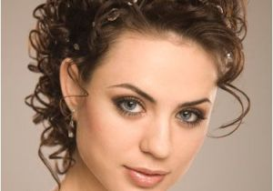 Curly Wedding Updo Hairstyles Curly Elegant Wedding Hairstyles Weddingwoow